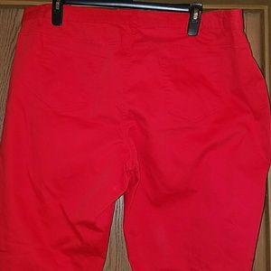 Ashley Stewart red jeans